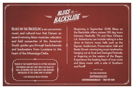 Blues on the Backslide postcard back